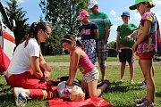 Dětský den se záchranáři v Hovoranech.