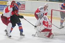 Čtvrtfinále play off 2. ligy, 3. zápas: SHK Hodonín (v modrém) vs Slezan Opava