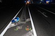 Slovenský kamion boural na obchvatu Sudoměřic.