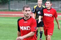 Hodonínský záložník Marián Švrček (na snímku) podal v Novém Městě na Moravě stejně jako zbytek hodonínského týmu slušný výkon.