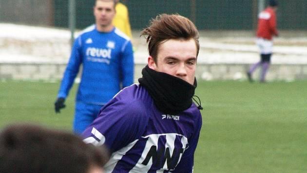 Obránce Petr Fotjtík (na snímku) se na výhře divizního Hodonína nad třetiligovým Vyškovem podílel jedním gólem.