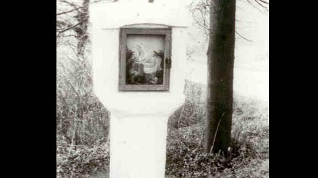 Kaplička svaté Anny zachycená před nehodou.