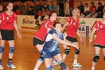 Uvidí veselští diváci i v této interligové sezoně Banskú Bystricu (v červeném).