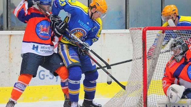 Hokejisté Hodonína vedli na ledě Břeclavi již 3:1, ale nakonec ve druhém letošním jižanském derby brali pouze bod.