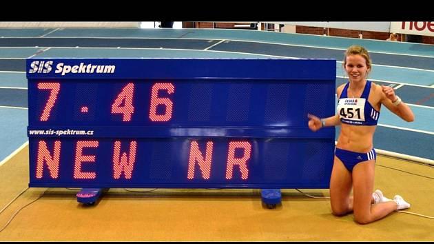 Hodonínská sprinterka Veronika Paličková překonala na halovém mistrovství České republiky dorostu a juniorů v závodě na šedesát metrů o čtyři setiny čtyřiatřicet let starý rekord Mileny Tebichové.