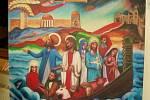 Výstava obrazů Karla Gotta.