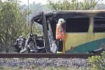 U Vnorov vykolejil 13. září 2016 vlak po srážce s traktorem. Neštěstí se stalo na přejezdu blízko ulice Průhony.