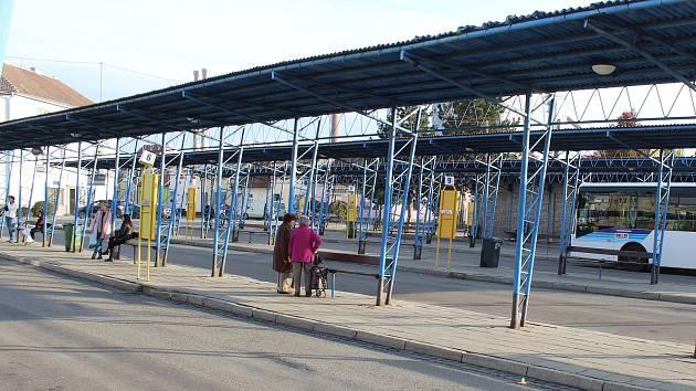 Autobusové nádraží v Kyjově. Ilustrační foto.