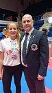 Nicole Michalicová, třináctiletá bronzová medailistka z mistrovství světa v Bukurešti.