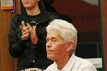 Trenér hodonínské mládeže Vladimír Brhel a Kateřina Tomanovská
