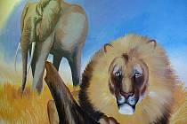 Petr Přikryl maloval na Základní škole Marie Kudeříkové ve Strážnici.