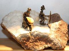 Pátý ročník výstavy a burzy minerálů v hodonínském Muzeu naftového dobývání nabídl tisíce exponátů. Některé z nich bylo možné i koupit.