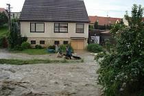 Povodeň v Blatničce.