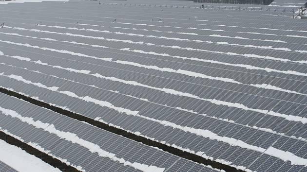 Solární elektrárna v Sudoměřicích