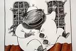 Ilustrace dětských knih vystavují v hodonínské knihovně.
