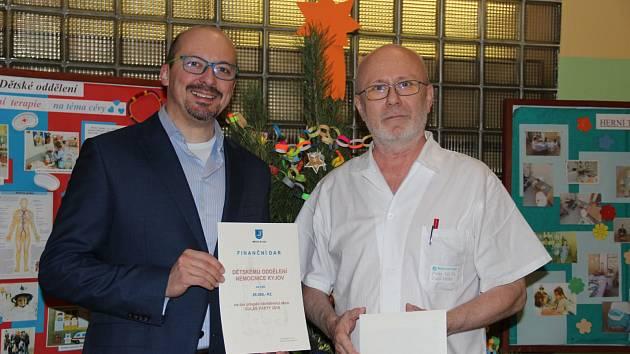 Kyjovská nemocnice dostala darem 26 tisíc korun