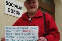 Demonstrující Svatopluk Krajtl