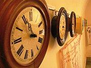 Výstava hodin Vlastivědného muzea v Kyjově.