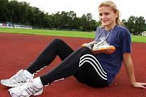 Hodonínská výškařka Lucie Krtičková.