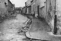 Ulice Výstavní v roce 1950.
