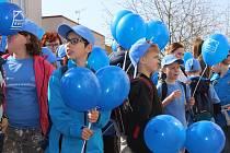 Kyjov se oblékl do modré.