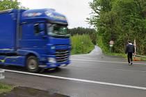 Silnice I/55 na Hodonínsku.