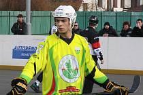 Kapitán Sudoměřic Jan Kaluža (na snímku) táhne mužstvo ze Slovácka do play off. Jihomoravané jsou v hokejbalové extralize sedmí.