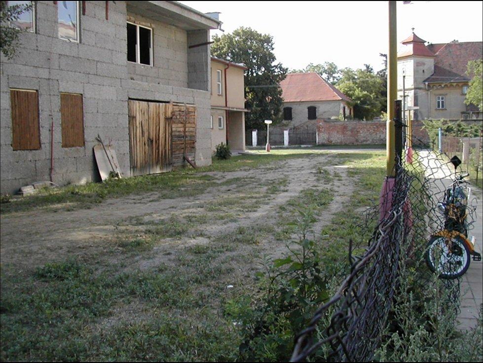 Kino ve Ždánicích před demolicí.