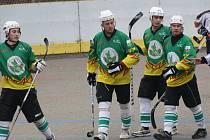 Hokejbalisté Sudoměřic se radují. Ve víkendovém šlágru 1. NHbl vyhráli v Hodoníně 3:1.