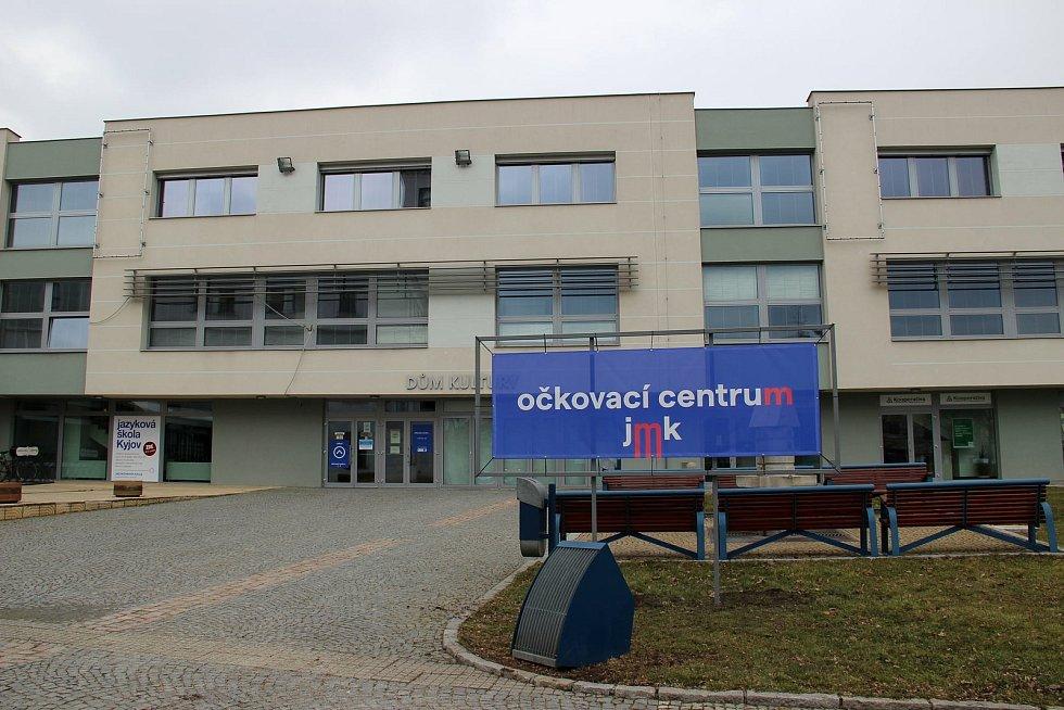 Očkovací centrum v Kyjově v Městském kulturním středisku.