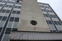 Současný vzhled budovy bývalého ředitelství Jihomoravských lignitových dolů.