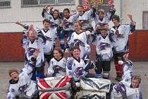 Mladí hokejbalisté Kyjova skončili na mistrovství Slovenska, které se uskutečnilo v Lozornu, pátí.