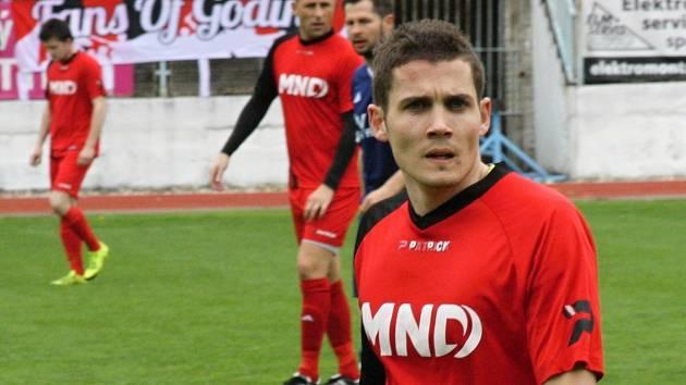 Hodonínský záložník Zdeněk Šturma (na snímku) pomohl diviznímu Hodonínu k výhře 3:1 nad Kozlovicemi.