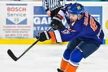 Nejproduktivnější obránce Hodonína Marek Haloda si na ledě Nového Jičína připsal druhý gól sezony. Drtiči na severu Moravy zvítězili 3:2 po samostatných nájezdech.