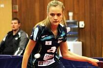 Čtrnáctiletá stolní tenistka Veronika Tušlová sice ve finále ženské extraligy nenastoupila, ale i tak se může pochlubit ziskem zlaté medaile.