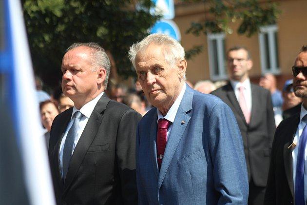 Miloš Zeman při poslední oficiální návštěvě Hodonína vletě 2018.