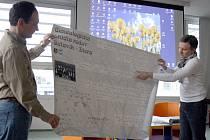 O svých poznatcích promluvil hodonínský autor historické beletrie Petr Gruber (vlevo) a holíčský profesionální genealog Vladimír Petrovič.