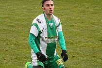 Záložník Bzence Tomáš Zůbek (na snímku) je v nominaci výběru Jihomoravského kraje na první utkání moravské části národní kvalifikace na Regions Cup.