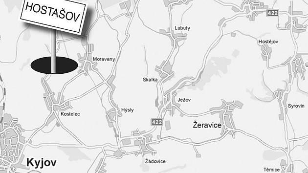 KDE BYL? Hostašov ležel kdysi na křižovatce cest u Kostelce. Území splynulo s Čeložnicemi.