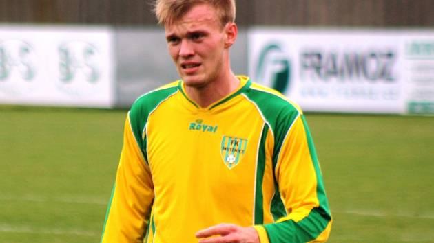 Mladý mutěnický stoper Pavel Varmuža nahradil proti Rosicím zraněného kapitána Radka Benešovského.