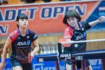 Čtyřhru juniorek na Czech Junior & Cadet Open v Hodoníně ovládly Japonky Miyu Nagasakiová a Maki Shiomiová.