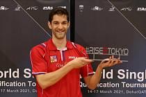 Lubomír Jančařík obdržel v Kataru plaketu, která mu bude připomínat jeho cestu za postupem do olympijského Tokia.