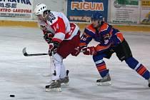 Čtvrtfinále play off, 1. zápas: SHK Hodonín (v modrém) vs Slezan Opava