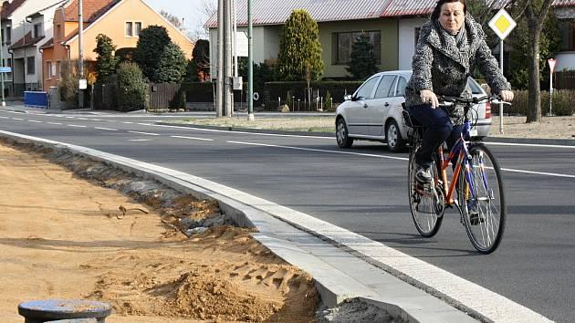 Výstavba cyklostezky v Ratíškovicích