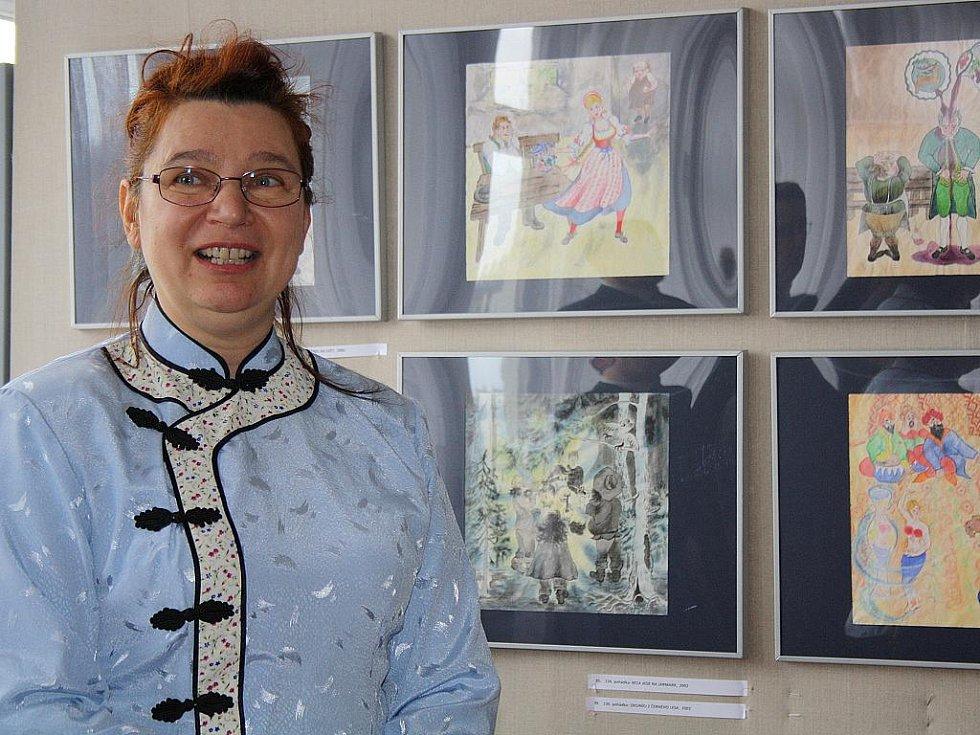 Nataša Suttá vystavuje v rámci semináře tchajwanských filmů ve Veselí nad Moravou.