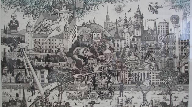 Výstava slovenského grafika Dušana Polakoviče