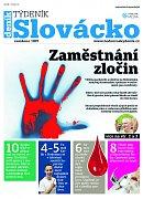 Titulní strana aktuálního vydání týdeníku Slovácko z 22. května 2018.