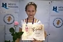 Sedmiletá krasobruslařská naděje Amálie Kliková (na snímku) získala na Zimní stadionu Václava Nedomanského druhou zlatou medaili v kariéře.
