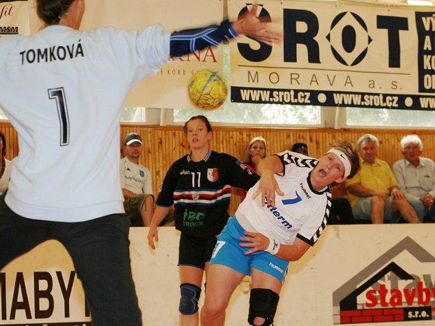 Gabriela Zvoničová v domácím duelu s Trenčínem