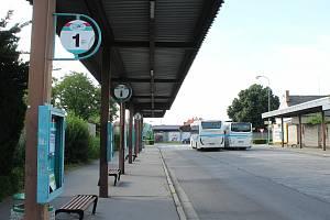 Autobusové nádraží ve Strážnici.